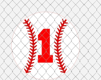 Number 1 Baseball Birthday Svg Png Dxf Cutting File Instant Download Birthday Svg Png Dxf Sports Theme Birthday Svg Png Dxf