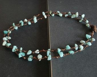 Double Strand  Amazonite Necklace