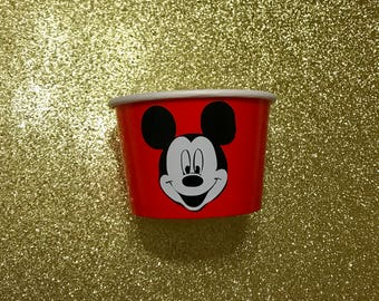 1- 8 oz Mickey Mouse Candy Party Favor Container Paper Bowl Snack Cup