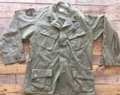 Vietnam Era Military Issue Slant Pocket Army Shirt- FREE SHIPPING