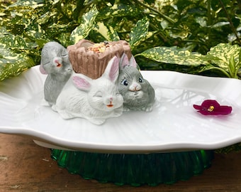 Garden Leaf Birdbath/Birdfeeder-Bunny-Fleamarket GardeningSALE