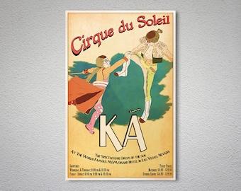 Cirque de Soleil Vintage Poster - Poster Paper, Sticker or Canvas Print