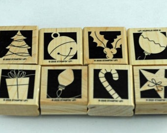 Retired, 2008, Christmas Stampin Up Stamp Set,Holiday Blocks
