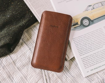 "Case for iPhone SE, fits iPhone 5S, leather, felt, ""Dandy"", by band&roll"