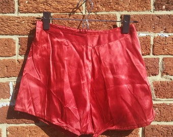 Vtg 50s Satin Bloomers / Burlesque Shorts / Circus Performer / Waist 24 inches