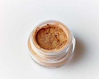 Gilded . Mineral Eye Shadow . Dark Gold . Goddess . Vibrant Eye Shadow . Loose Mineral Makeup . Natural Beauty . Bohemian