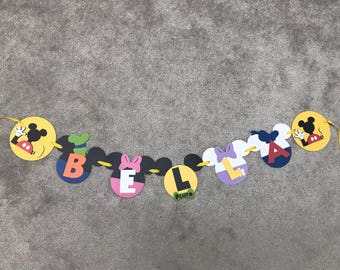 Mickey Mouse clubhouse name banner