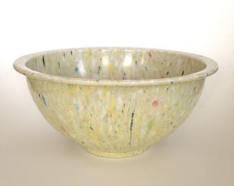 Vintage Texas Ware Melamine Large Mixing Bowl 125 Speckled Splatter Confetti