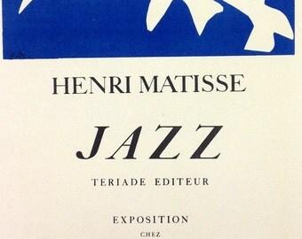 """Matisse 39 """"jazz""""  1959 Mourlot Art in posters"""