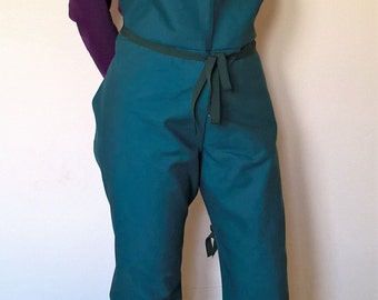 Pottery apron for wheel- One size fits all - Teal- BACK IN STOCK