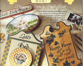 Sign Boards Book 1 byPriscilla Hauser Tole Painting Book