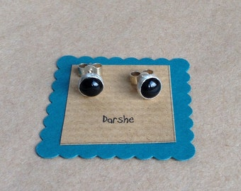 Onyx Earrings, black studs, black stud earrings, onyx stud earrings, onyx studs