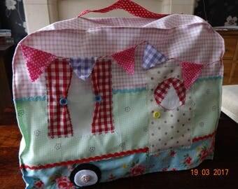 Sewing pattern caravan vintage, retro campervan dust cover for sewing machine pdf EASY!
