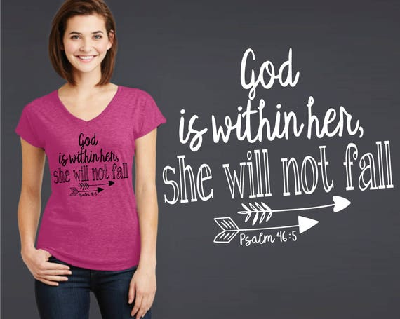 God Is Within Her She Will Not Fall   Psalm 46:5   Graduation Gift   Christian Gift   Friend Gift   Daughter Gift   Korena Loves