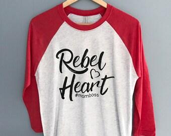 Rebel Heart Women's 3/4 Sleeve Baseball T-Shirt