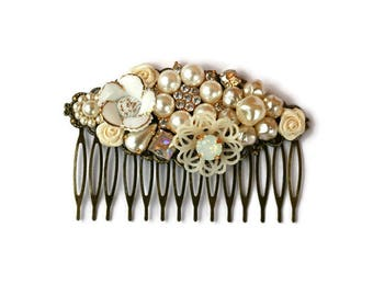 Sparkling Bridal Hair Comb, Wedding Hair Comb, Collage Hair Comb, Bridal Hair Comb,