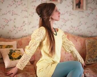 SALE Yellow Mod Dollybird Dress