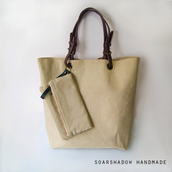 25% OFF - Tote Bag with Fold Over Clutch Purse