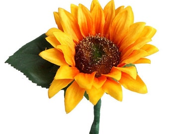 Sunflower Boutonniere - Pack of 4