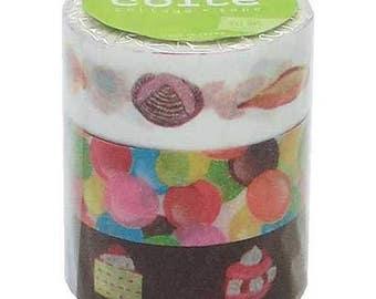 Colte Washi Masking Tape / candy  /  3 rolls set / CK008