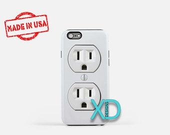 Wall Socket iPhone Case, Outlet iPhone Case, Plug iPhone 8 Case, iPhone 6s Case, iPhone 7 Case, Phone Case, iPhone X Case, SE Case