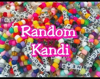 10 piece random assorted kandi bracelet singles