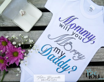 proposal; will you marry daddy;  proposal gift; will you marry me; marry me sign; marry me; getting married shirts; engagement gift; ring