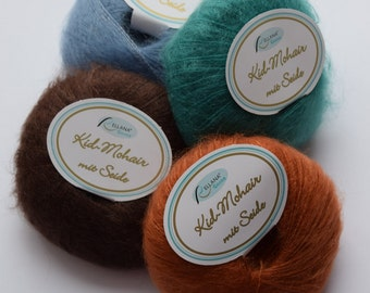 Rellana Garne kid mohair/silk soft Laceweight Yarn - jeans color