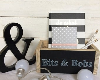 Rustic Box - Storage Box - Office Tidy - Rustic Accesory - Kitchen Organisation - Pallet Box - Bits and Bobs - wood box
