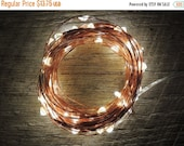 WINTER CLEARANCE SALE 100 Led Battery Operated Fairy Lights, 10M 33 feet,  Rustic Wedding Decor, Room Decor, Copper Wire Strand Warm White