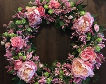 Pink Floral Wreath *MADE TO ORDER*
