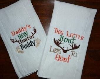 Hunting Themed Burp Cloth Pair