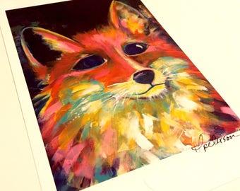 Fox print 5x7