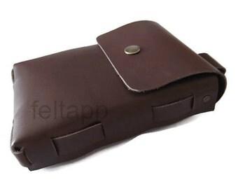 Leather Belt Pouch, Leather Belt Bag, Leather Hip Bag, Belt Case, Pocket Belt, Travel Pouch, Medieval Pouch, Full Grain Italian Leather