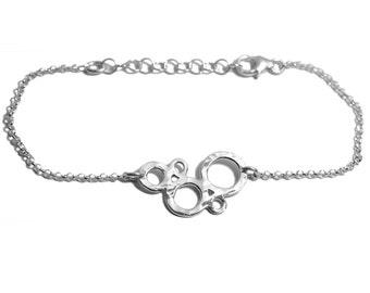 Sterling silver Bubble adjustable bracelet