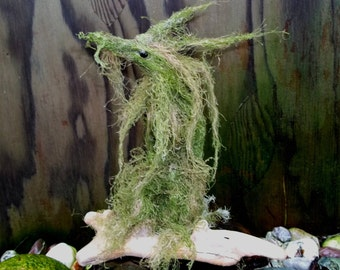 "Green MOSS DRAGON ""Moss Fur Atu"" - Hand Sculpted Figurine - OOAK - Breathtaking!!"