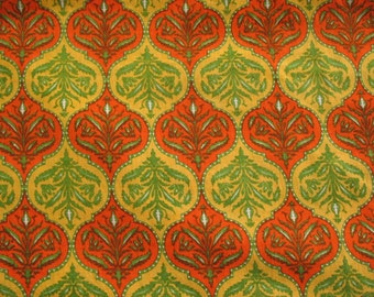 Screen Print Ogee Pattern Light Weight Cotton fabric Sold by Yard