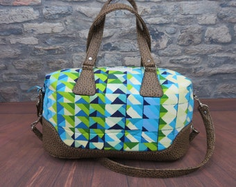 Alexande Henry casa azul Swoon patterns Brooklyn Traveler / overnight carry on bag FREE DOMESTIC SHIPPING