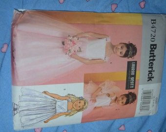 Butterick 4270 Girls Special Occasion Dress and Wrap Sewing Pattern - UNCUT- Sizes 2 3 4 5 - Flower Girl Dress, Formal Dress