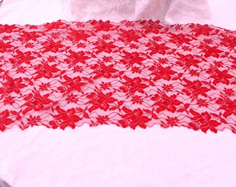 Spanish Mantilla / Spanish Scarf / Red Scarf / women / women's accessories / Red Lace Scarf