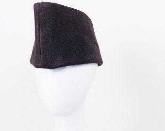 Simplified Garrison Hat in Leather