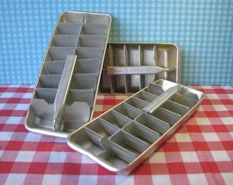 General Electric Cube Trays - Choose 1 or 2 - Redi Cube - Aluminium - GE - Mid Century Vintage 1960's