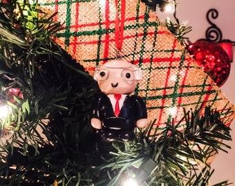 Bernie Sanders Christmas Tree Ornament