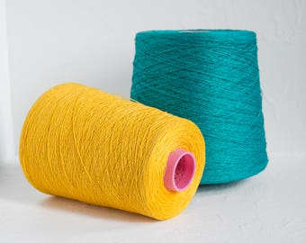Laceweight linen yarn on cones for weaving- total 1.5kg / 52.5oz