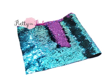 Blue/Purple Changeable Sequin Fabric Sheet-Sequin Fabric Sheet- Fabric Sheet-Fabric -DIY Hair Bows- 1mm Thick