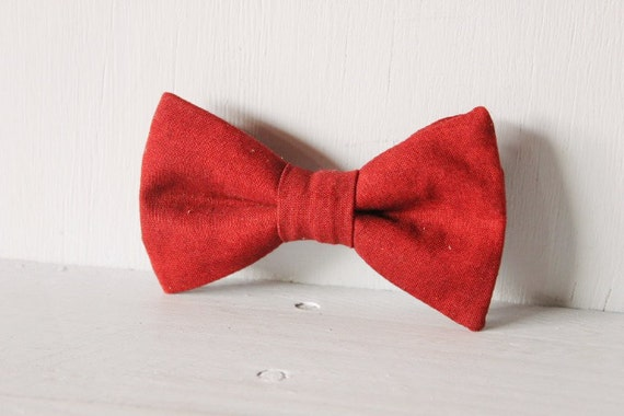 Dog bow tie >> Maroon bow with elastic >> Pet gift