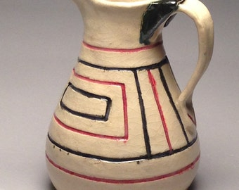Art Deco White Pitcher