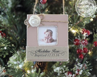 Baptism Ornament Personalized GIFT Baby Baptism Dedication Christening