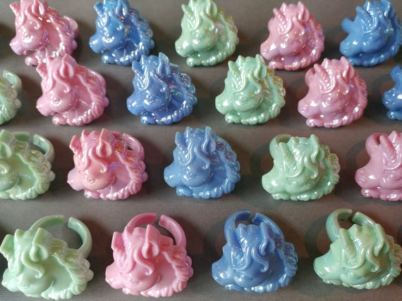 unicorn rings for cupcakes