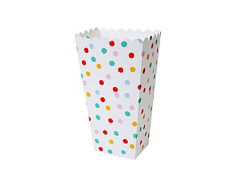 Toot Sweet Spotty Popcorn Boxes by Meri Meri, Treat Boxes, Party Supplies